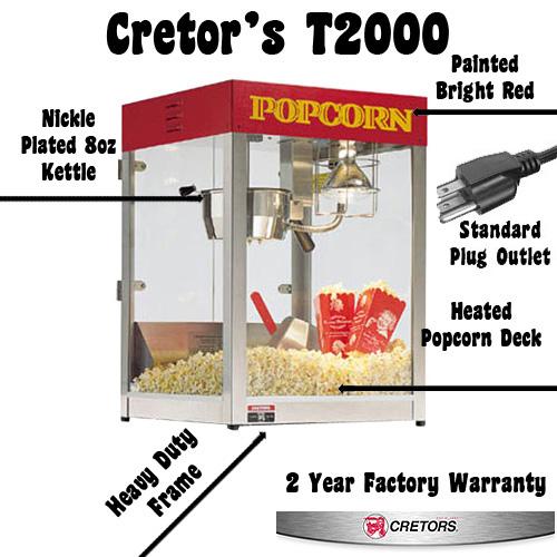 Cretors T 2000 Popcorn Machine