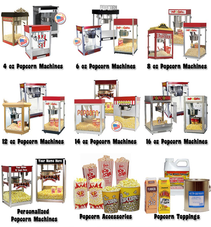 popcorn machine and supplies